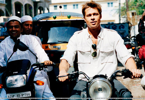 Brad Pitt wallpaper possibly with a motorcycle cop called Photoshoot!