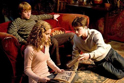 Harry Potter फिल्में वॉलपेपर probably containing a brasserie, a diner, and a पढ़ना room called Trio HBP