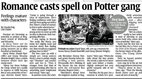 USA Today HBP Article - harry-potter Photo