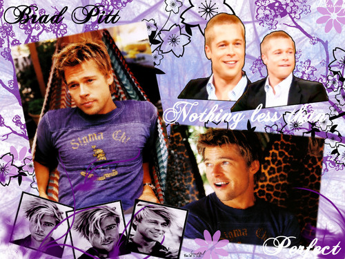 Brad Pitt wallpaper possibly containing a sign, a newspaper, and anime entitled Wallie
