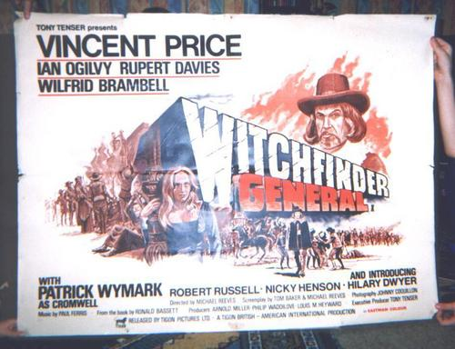 Vincent Price wallpaper containing anime called Witchfinder General poster
