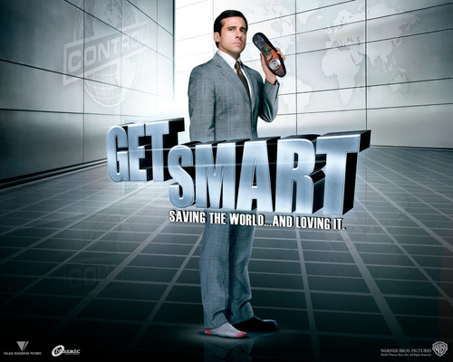 Get Smart (2008 Movie) Hintergrund probably containing a business suit, a sign, and long trousers called get smart 2008