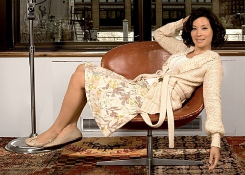 lucy liu wallpaper possibly containing a bathrobe, a drawing room, and a rua called lucy