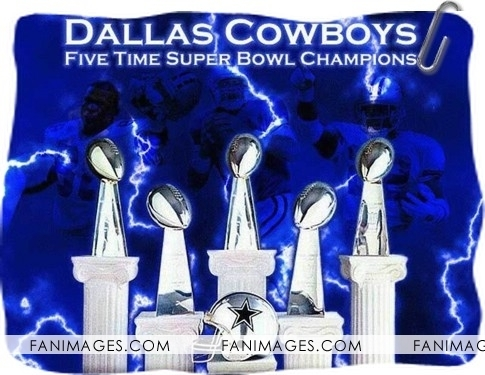 Dallas Cowboys achtergrond titled 5 Super Bowl Trophies!!