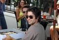 Adrian Grenier celebrates his birthday at Urth Caffe with his Entourage family