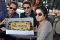 Adrian Grenier celebrates his birthday at Urth Caffe with his Entourage family