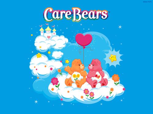 Care Bears karatasi la kupamba ukuta