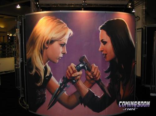 Buffyverse Comics achtergrond called Comic Con - Mural- For Omnibus