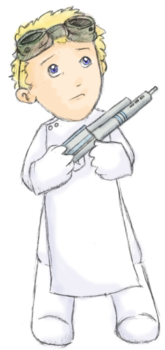 Dr. Horrible's Sing-A-Long Blog wallpaper probably containing anime called Dr. Horrible Drawing