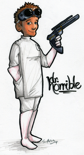 Dr. Horrible's Sing-A-Long Blog 壁紙 probably containing アニメ called Dr. Horrible Drawing