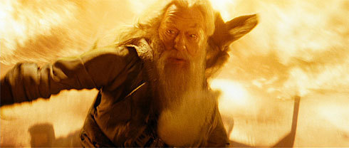 Dumbledore Conjuring feuer