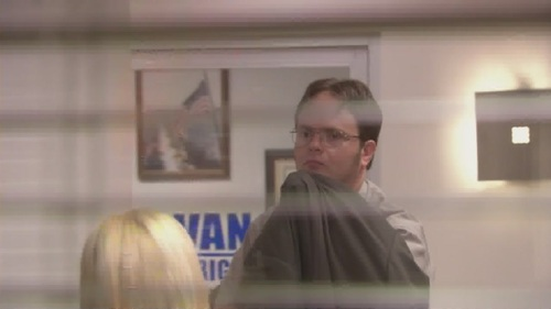 Dwight gives Angela Garbage