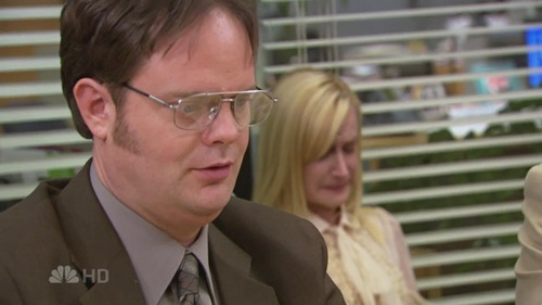 Dwight tells Angela it's just a cat