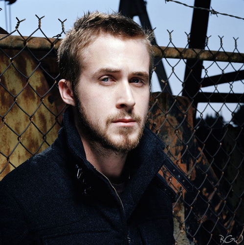 Ryan Gosling wallpaper with a chainlink fence entitled Flaunt Photoshoot