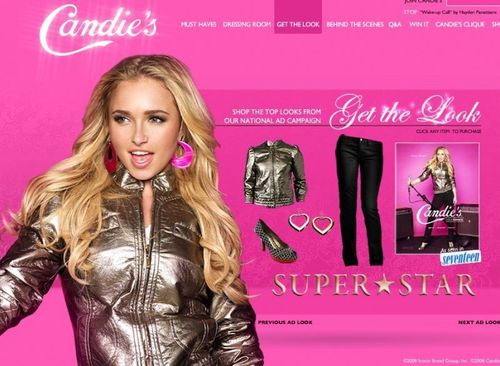 Hayden Panettiere wallpaper with a hip boot entitled Hayden's Candie's Fall '08 Campaign