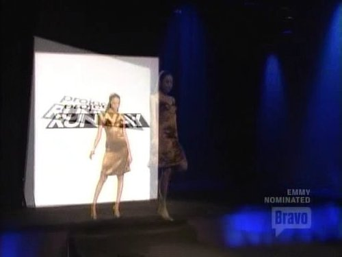 Project Runway wallpaper titled Joe's Outfit - Green Model Challenge
