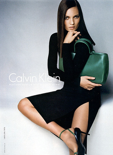 Kate Moss پیپر وال with tights, a leotard, and bare legs called Kate Moss For Calvin Klein