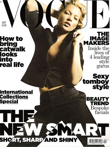 Kate Moss on Magazine covers