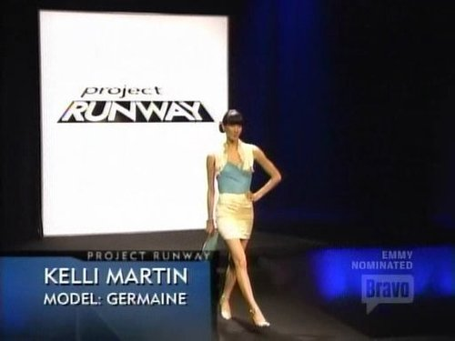 Project Runway wallpaper called Kelli's Outfit - Green Model Challenge