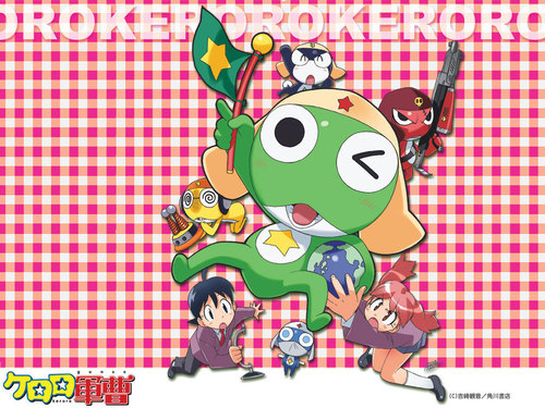 Sgt. Frog (Keroro Gunso) wallpaper possibly containing anime called Keroro Gunso Wallpaper