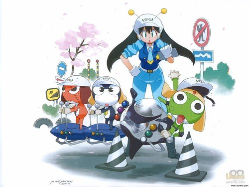 Sgt. Frog (Keroro Gunso) wallpaper possibly with anime titled Keroro Gunso Wallpaper