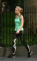 Kristen & Dax jogging!