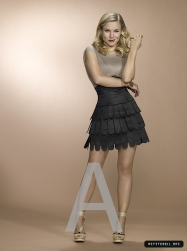 Kristen Bell wallpaper possibly containing a cocktail dress and a gathered skirt entitled Kristen @ Photoshoots