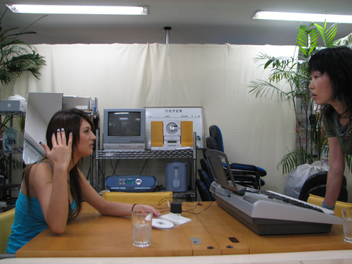 Leah at company's office