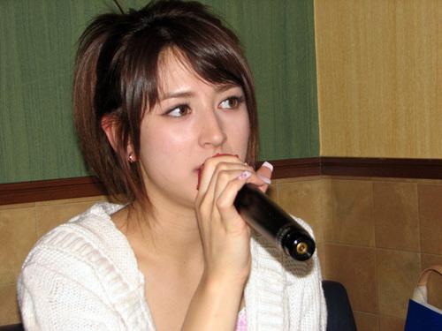 Leah performing Karaoke