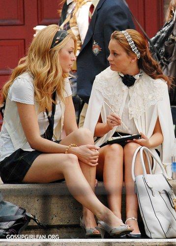Leighton&Blake On Set