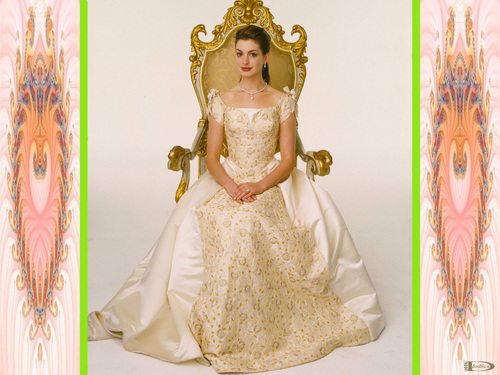 Anne Hathaway wallpaper probably with a gown and a bridesmaid called PRINCESS