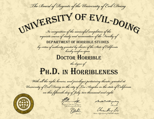 Ph.D. in Horribleness