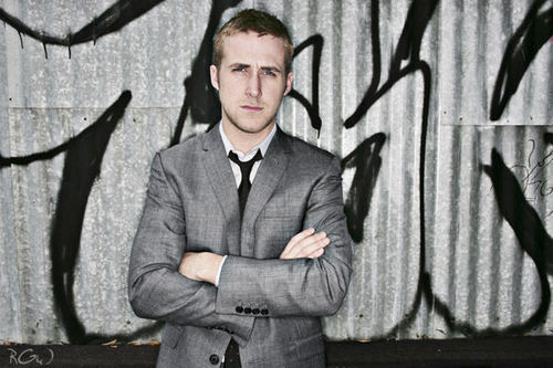Ryan gosling karatasi la kupamba ukuta with a business suit, a well dressed person, and a suit titled Ryan