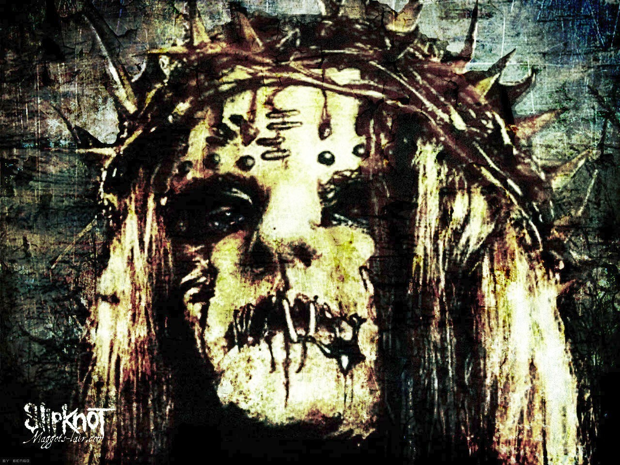 Joey Jordison Slipknot Masks Wallpaper