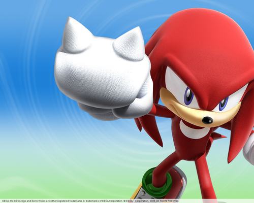 Knuckles the Echidna wallpaper entitled Sonic Rivals Knuckles