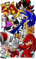 Sonic and Knuckles with others