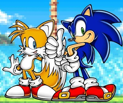 Sonic X karatasi la kupamba ukuta possibly with anime called Sonic and Tails