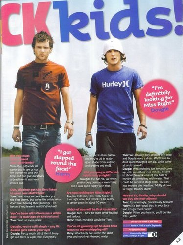 Top Of the Pops July 2008 Issue Magazine - mcfly Screencap