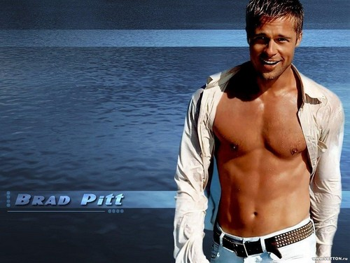 Brad Pitt wallpaper probably containing a hunk, swimming trunks, and skin called WOAH SEXY
