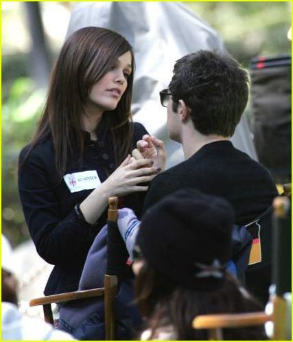 rachel&adam on set (the OC)