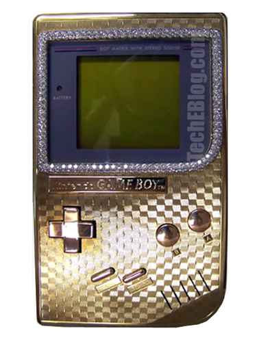 24k Gold Jeweled Gameboy