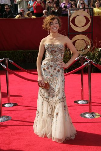 Alyson Hannigan wallpaper containing a bridesmaid and a gown entitled ALyson