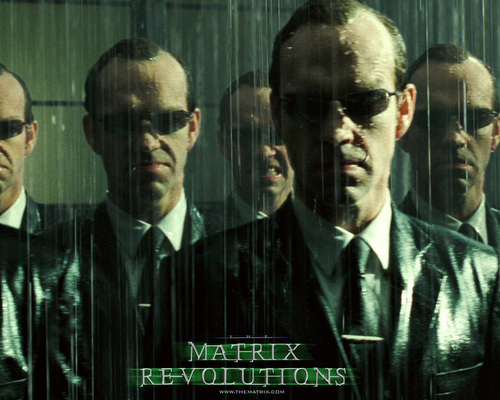 The Matrix 壁紙 containing a business suit entitled Agent Smith