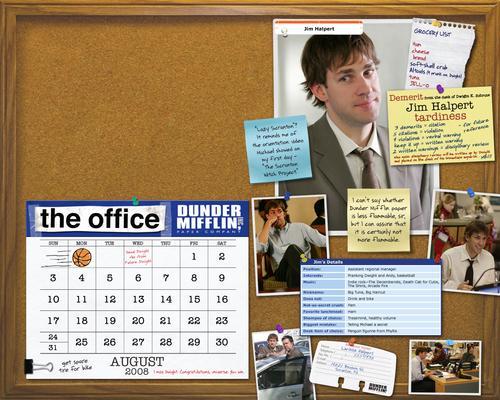 August 2008 Desktop Calendar