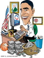 Barack Obama at work in the office - barack-obama fan art