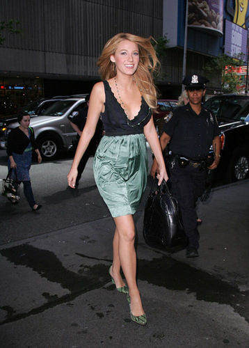 Blake outside TRL studios