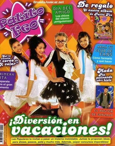 Brenda in the Patito Feo magazine