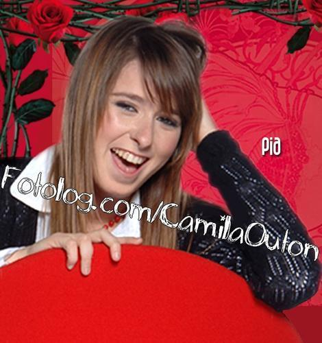 patito feo wallpaper possibly containing a sign and a portrait entitled Camila Outin  (Pia)