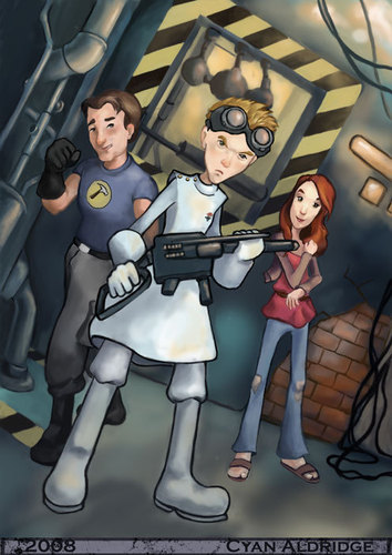 Dr. Horrible's Sing-A-Long Blog Hintergrund probably with Anime entitled Captain Hammer, Dr. Horrible, Penny