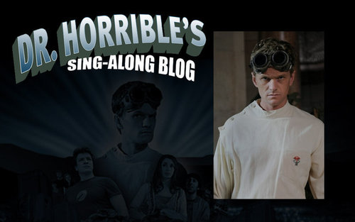 Dr. Horrible's Sing-A-Long Blog wallpaper probably containing sunglasses entitled Dr. Horrible Banner